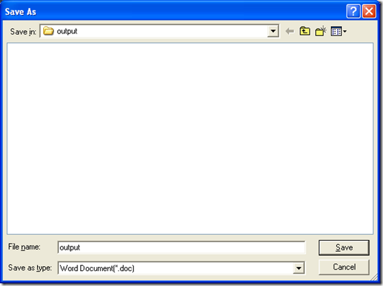 """save Word file and one click on """"Save"""" in dialog box of """"Save As"""""""