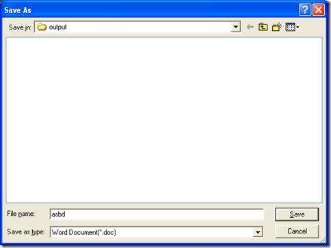 "dialog box of ""Save As"""