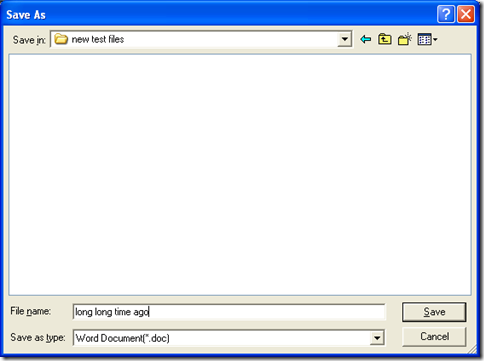 "save Word with one click on ""Save' in dialog box of 'Save As'"