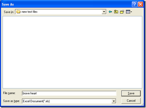 """dialog box for selecting targeting folder with one click on """"Save"""""""