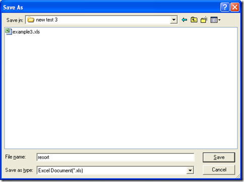"""save Excel in dialog box of 'Save As' and one click on """"Save"""""""