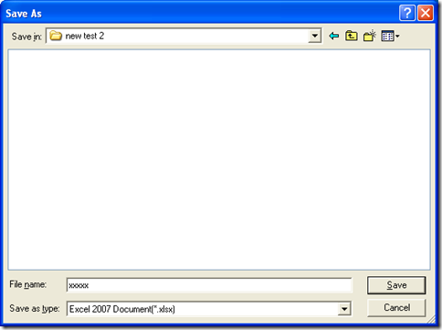 "dialog box of ""Save As"""