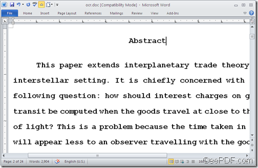 output word document