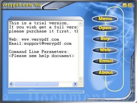 Interface of EEPDF PDF to TXT Splitter
