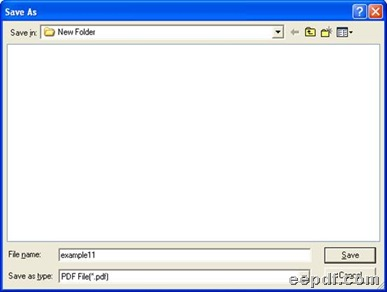 Dialog box for selecting objective folder