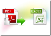 encrypted pdf to excel