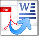 from pdf to word