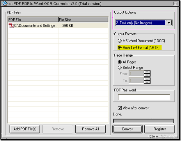 EEPDF PDF to Word OCR Converter