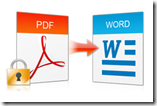 convert encrypted scanned PDF file to Word