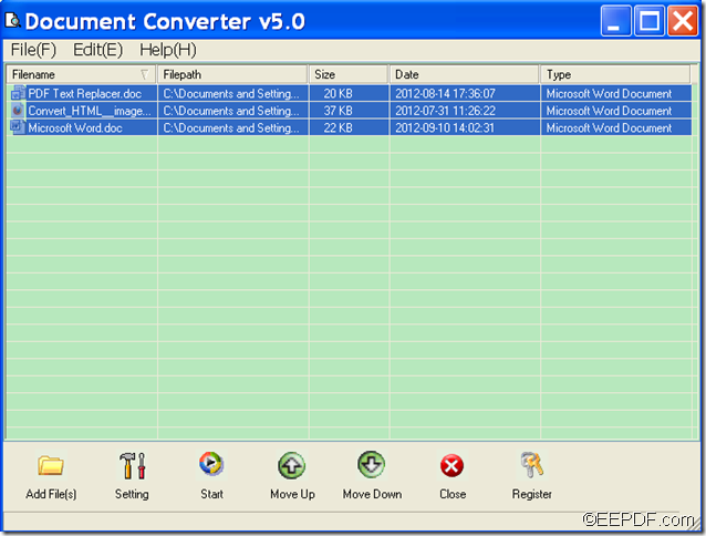 convert HTML,TEXT,Word document to image with EEPDF Document Converter Professional
