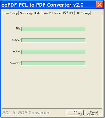 convert PCL to PDF and eidt PDF property with  EEPDF PCL to PDF Converter
