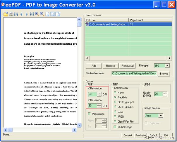 convert PDF to image with EEPDF PDF to Image Converter