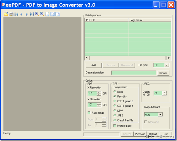 convert password PDF to image with EEPDF PDF to Image Converter