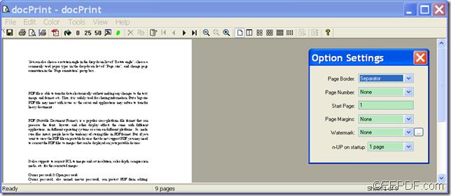 create PDF by virtual printer with EEPDF Document Converter Professional