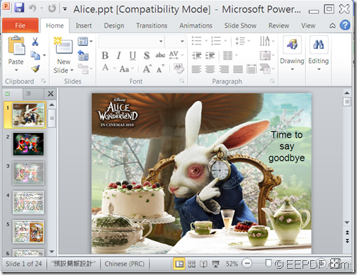 Input PowerPoint  file