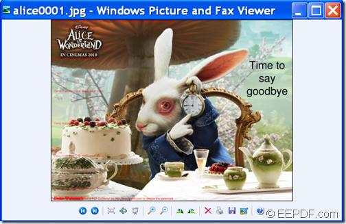Outpu JPG image
