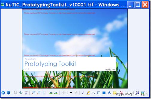 output TIFF file